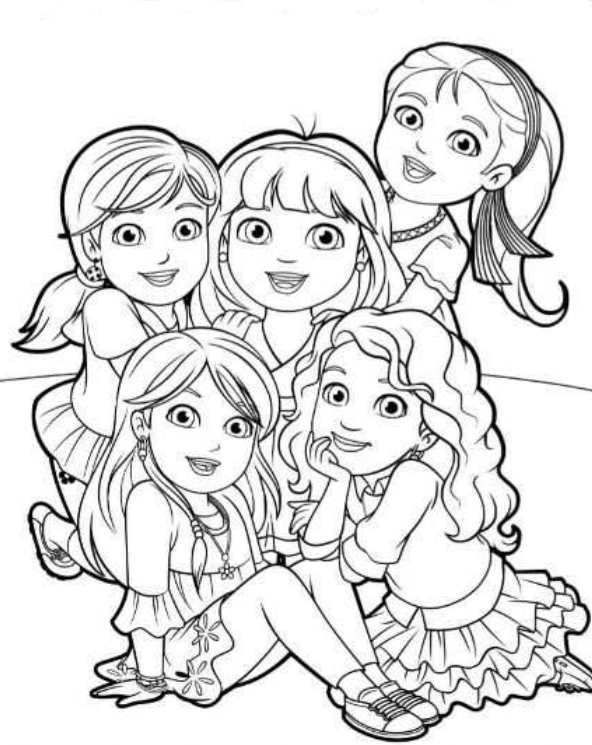 coloring pages dora and friends kids n funcom 6 coloring pages of dora and friends friends dora and pages coloring