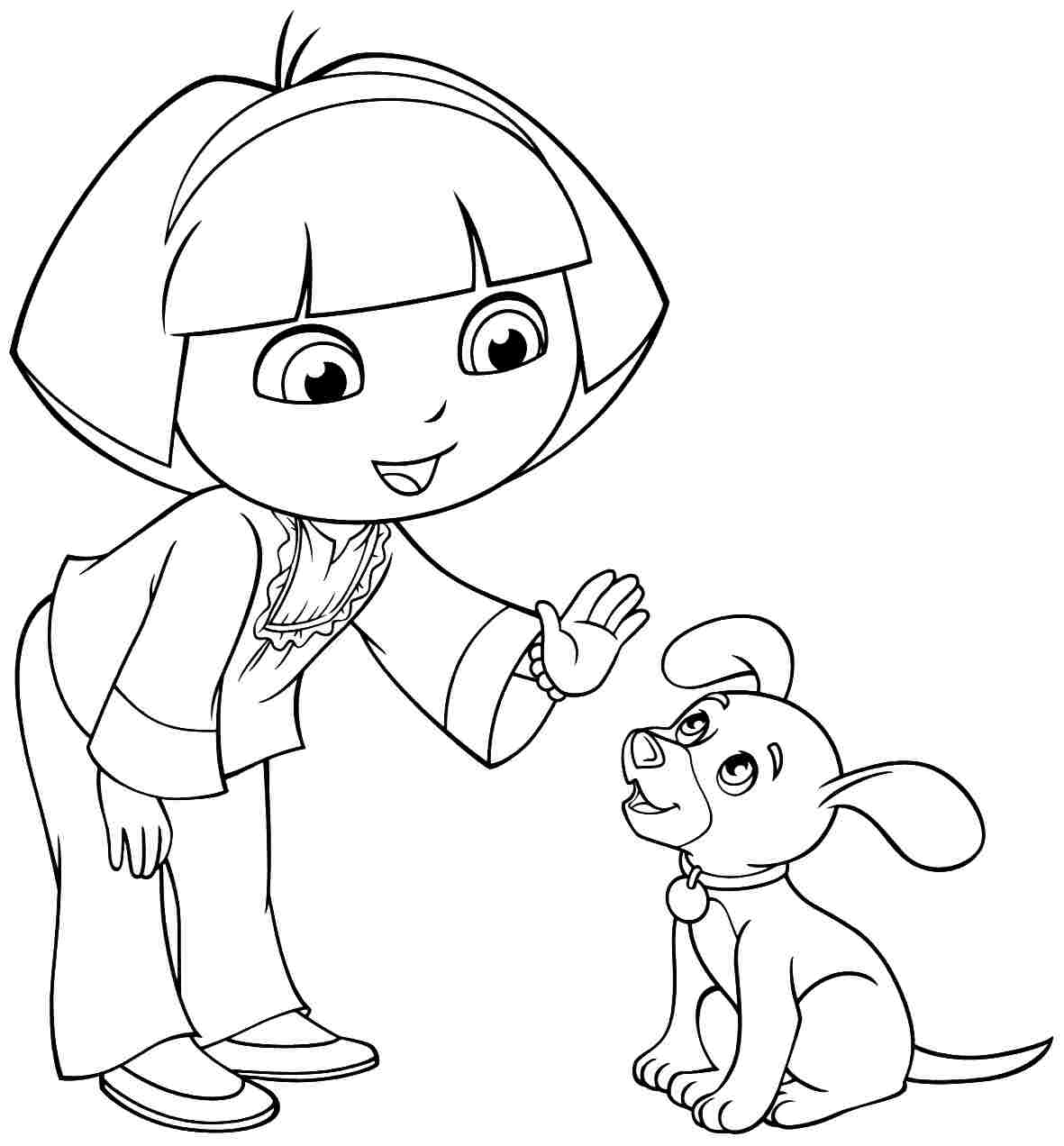 coloring pages dora and friends kids n funcom 6 coloring pages of dora and friends pages and dora friends coloring