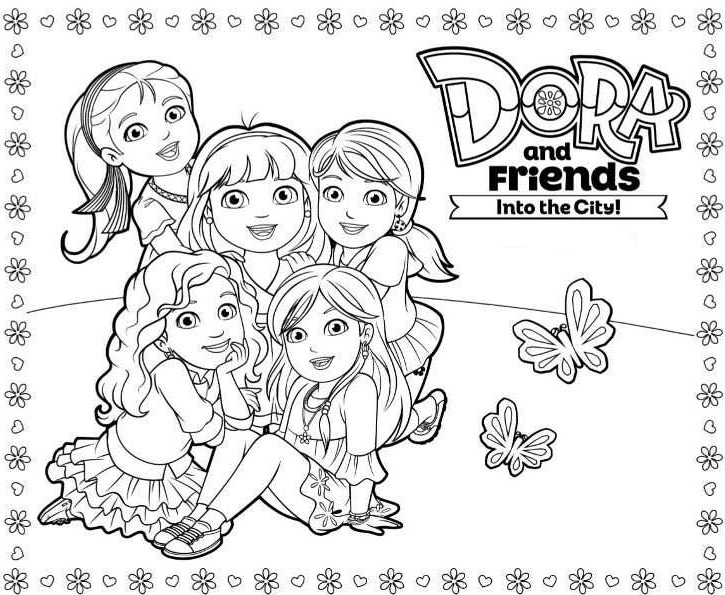 coloring pages dora and friends kids n funcom 6 coloring pages of dora and friends pages coloring dora and friends