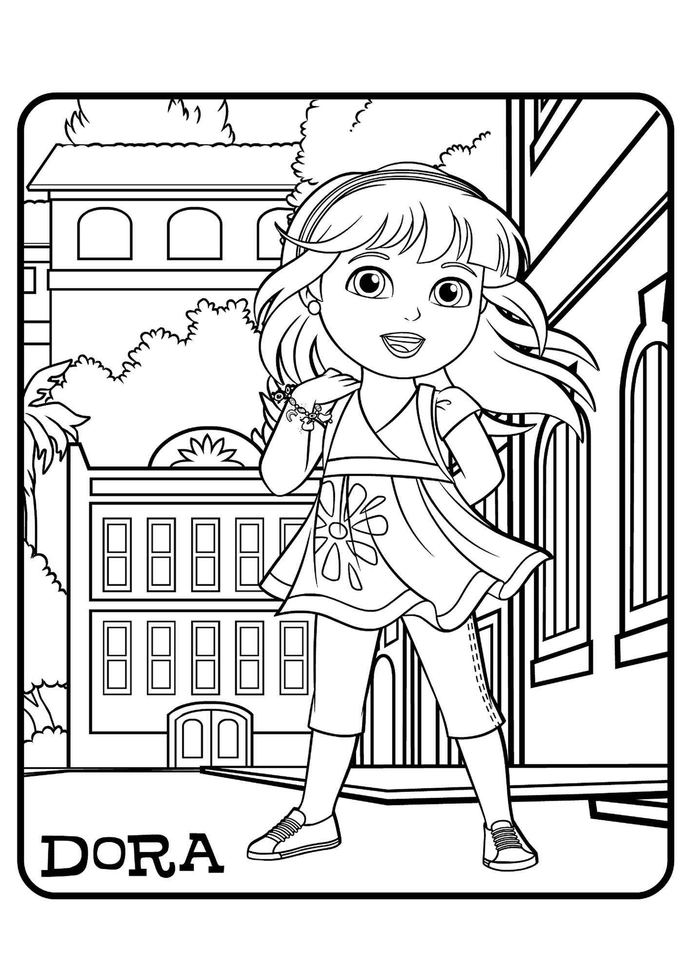 coloring pages dora and friends nice get a move on dora and friends soccer dance coloring and coloring pages dora friends
