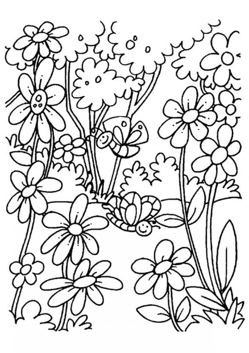 coloring pages flowers printable free printable floral coloring page ausdruckbare pages coloring flowers printable
