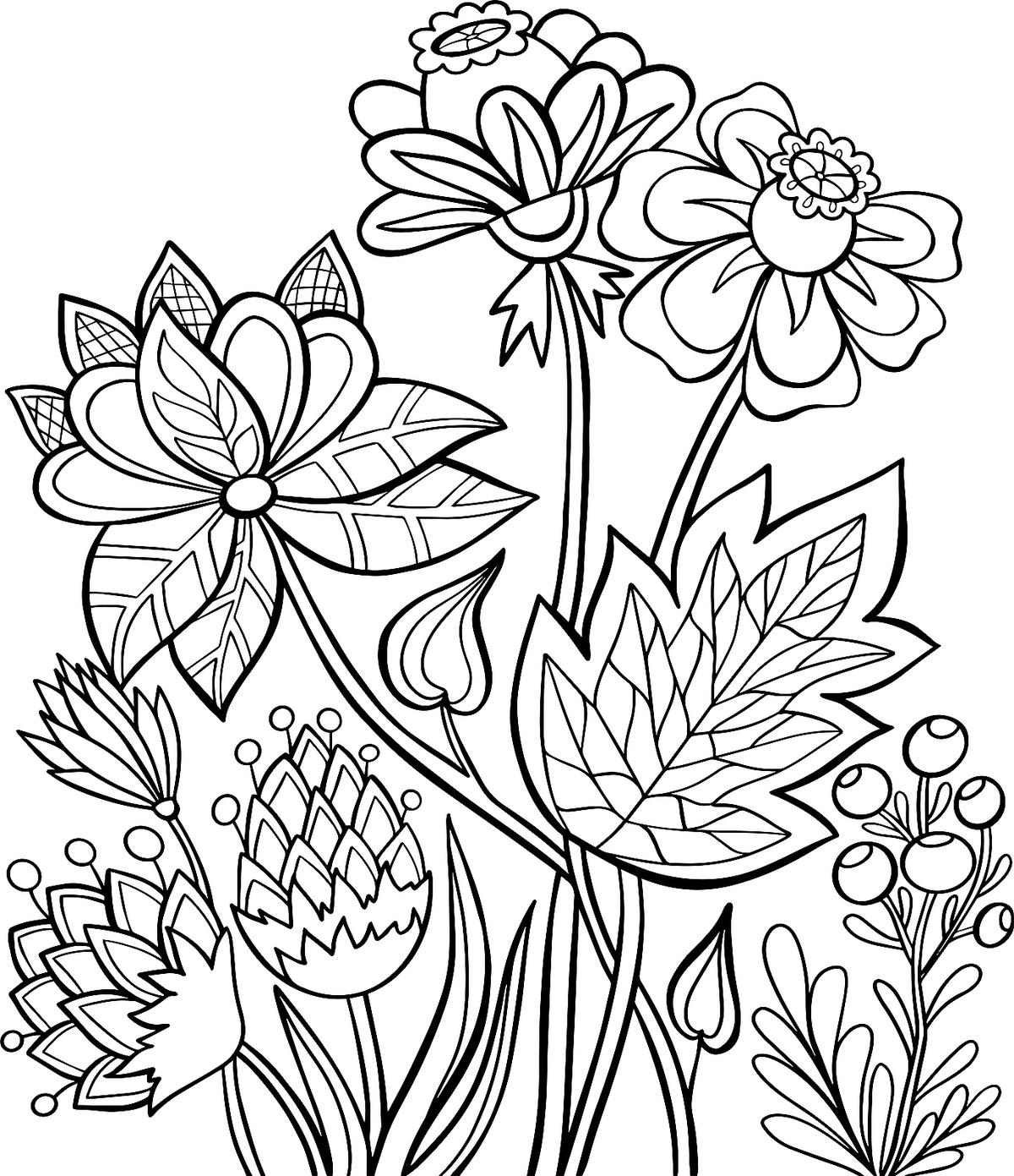 coloring pages flowers printable free printable flower coloring pages for kids best coloring pages flowers printable