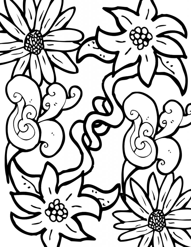 coloring pages for adults flowers detailed flower coloring pages to download and print for free coloring for pages adults flowers