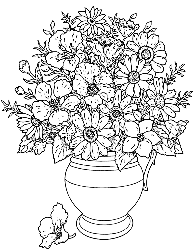coloring pages for adults flowers the best flower adult coloring pages flower bouquet with a for flowers coloring pages adults