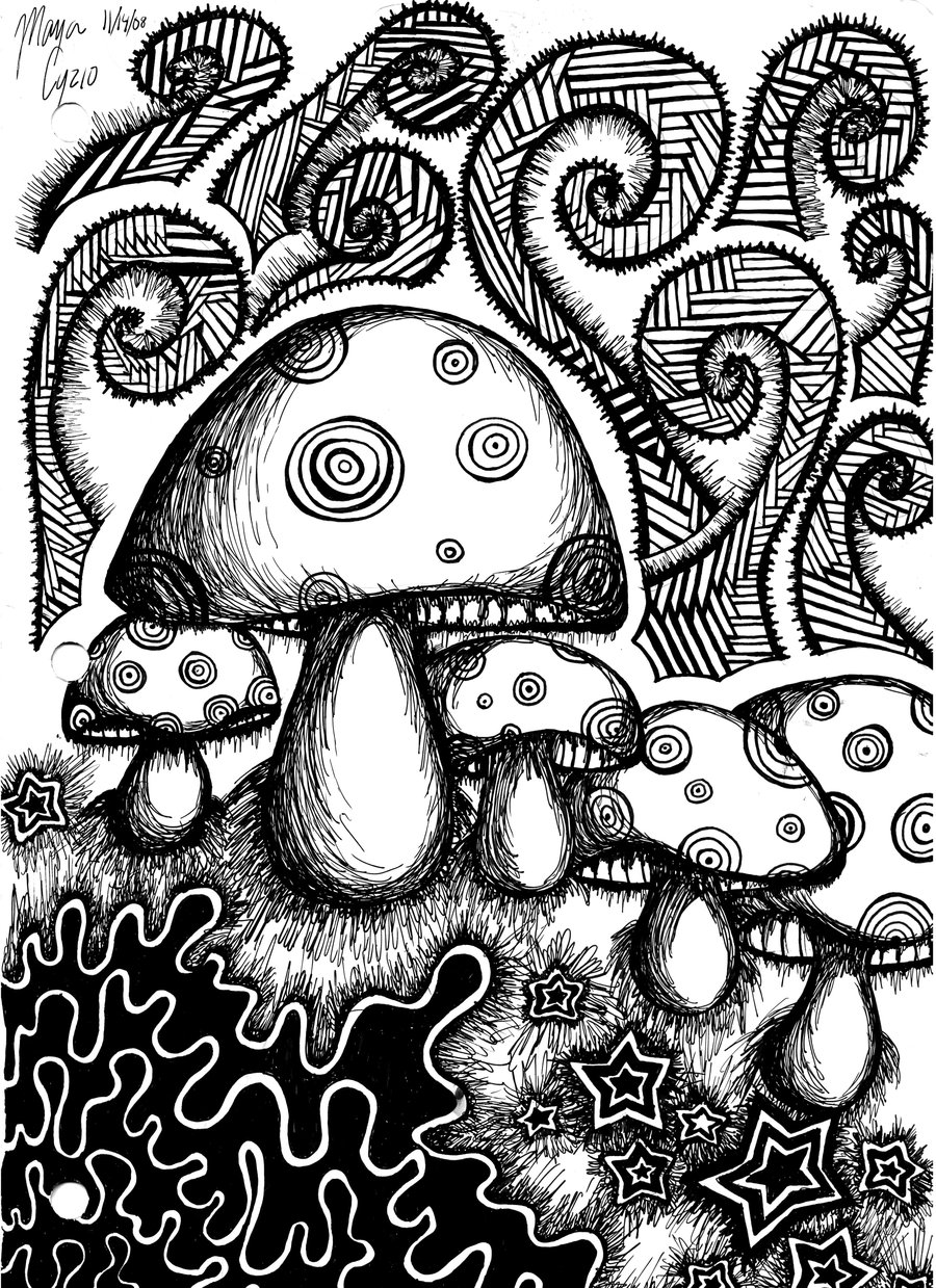 Coloring pages for adults trippy
