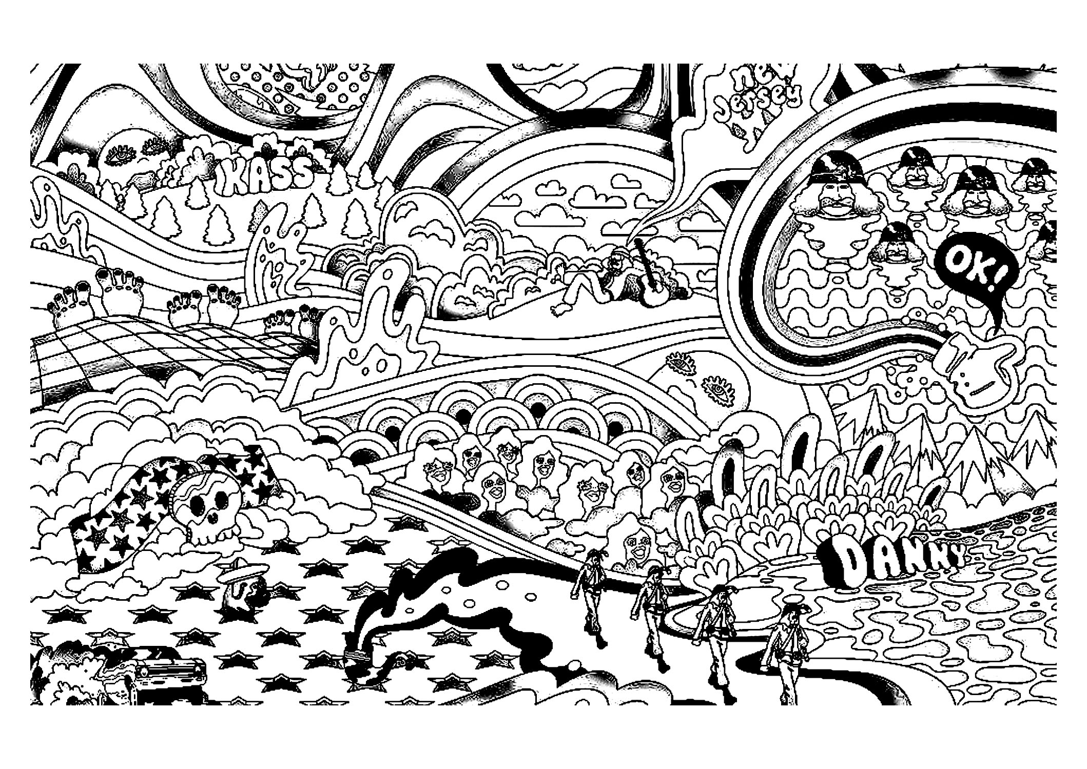 coloring pages for adults trippy psychedelic coloring pages for adults free printable coloring pages trippy for adults