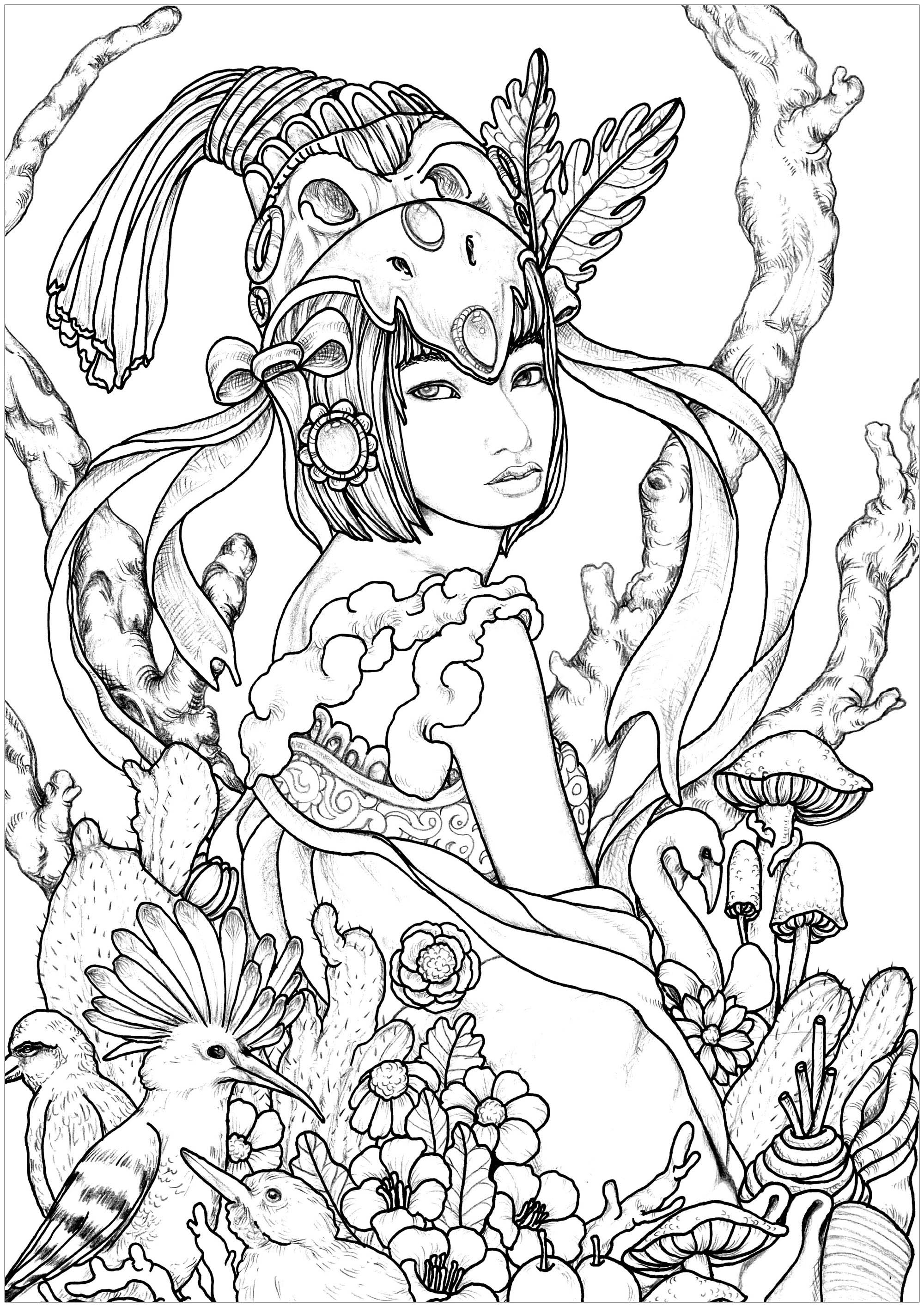 coloring pages for adults women 759 best beautiful women coloring pages for adults images pages coloring women adults for