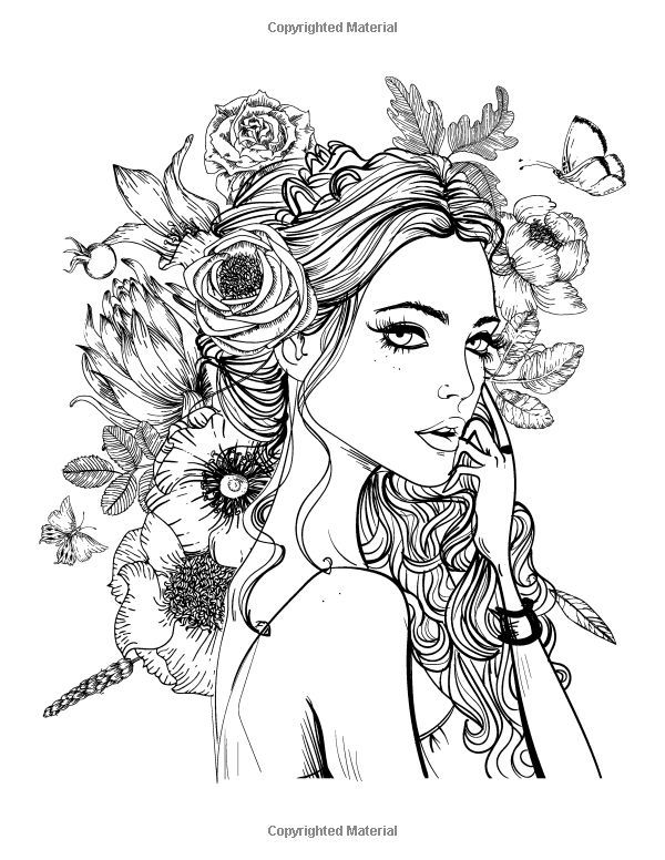 coloring pages for adults women 870 best beautiful women coloring pages for adults images pages women coloring adults for