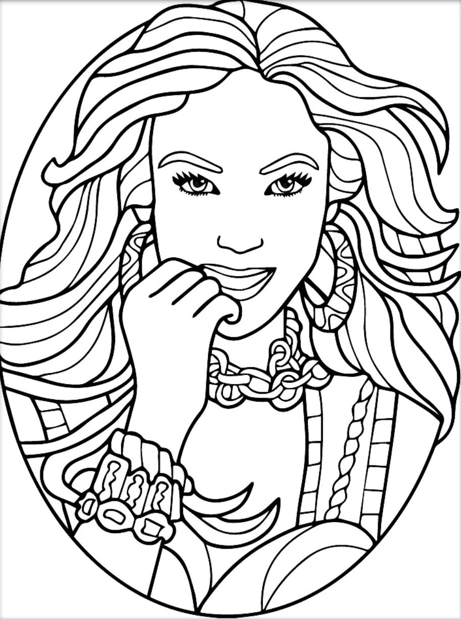 coloring pages for adults women beautiful woman coloring page female coloring by women adults for coloring pages