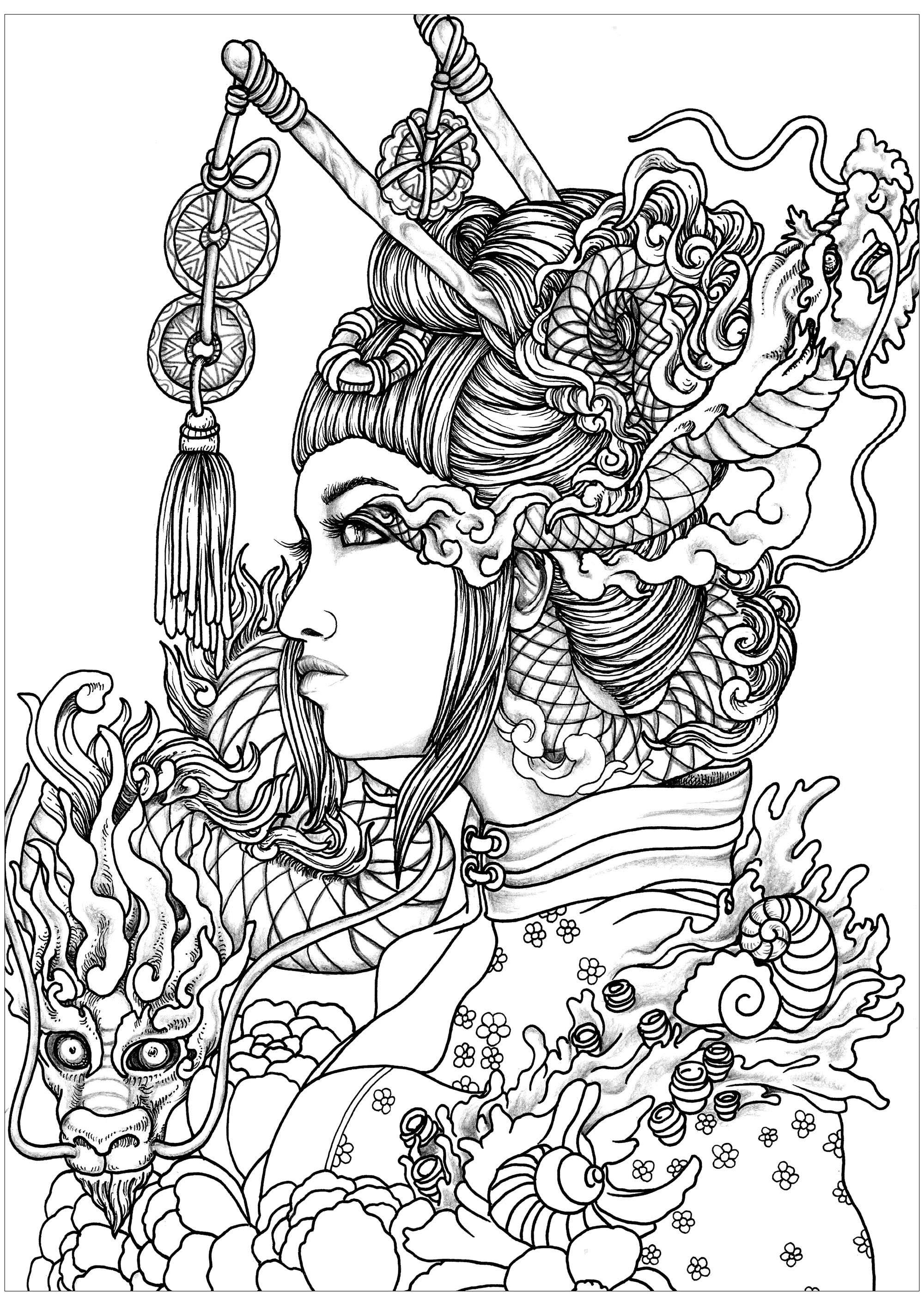 coloring pages for adults women beautiful woman coloring pages at getdrawings free download adults coloring pages for women