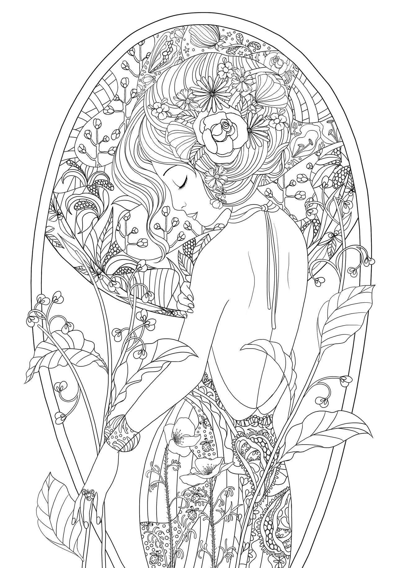 coloring pages for adults women best 898 beautiful women coloring pages for adults ideas for adults pages coloring women