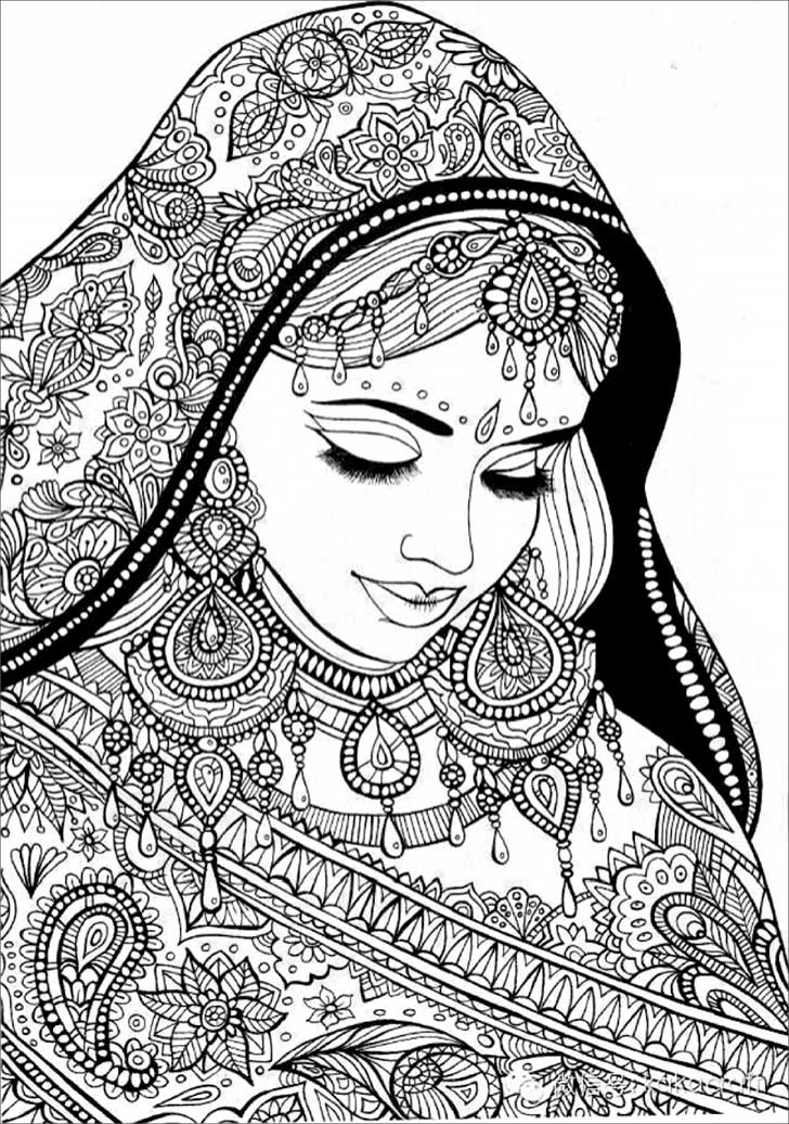 coloring pages for adults women coloring pages for adult indian woman adult por coloring women adults for pages