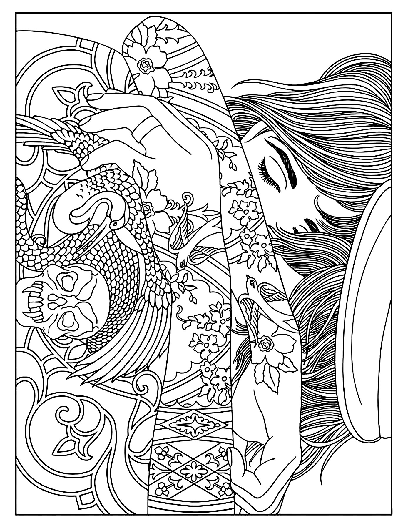 coloring pages for adults women coloring pages for adults women women for coloring adults pages