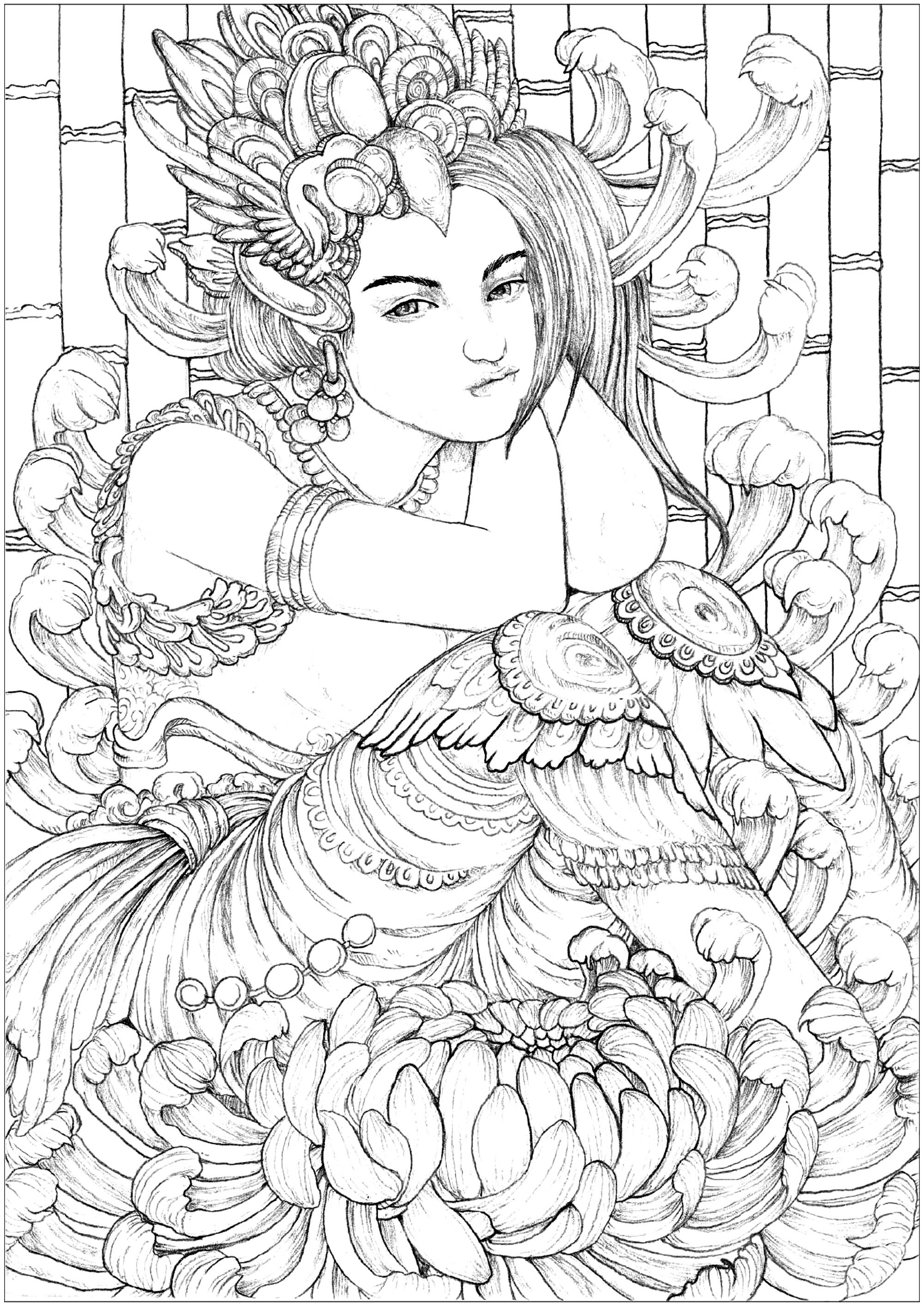 coloring pages for adults women fantasy adult coloring pages coloring home for adults coloring women pages