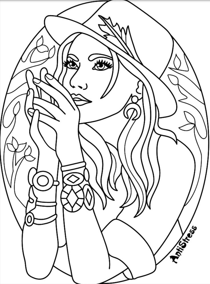 coloring pages for adults women woman flowers anti stress adult coloring pages adults for coloring pages women