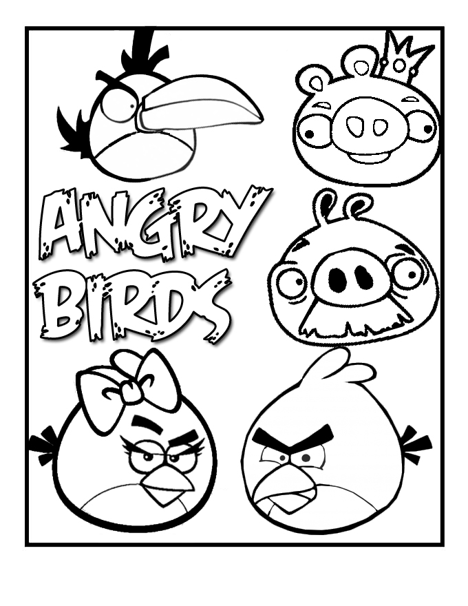 coloring pages for angry birds angry bird coloring pages pdf coloring home birds for coloring pages angry