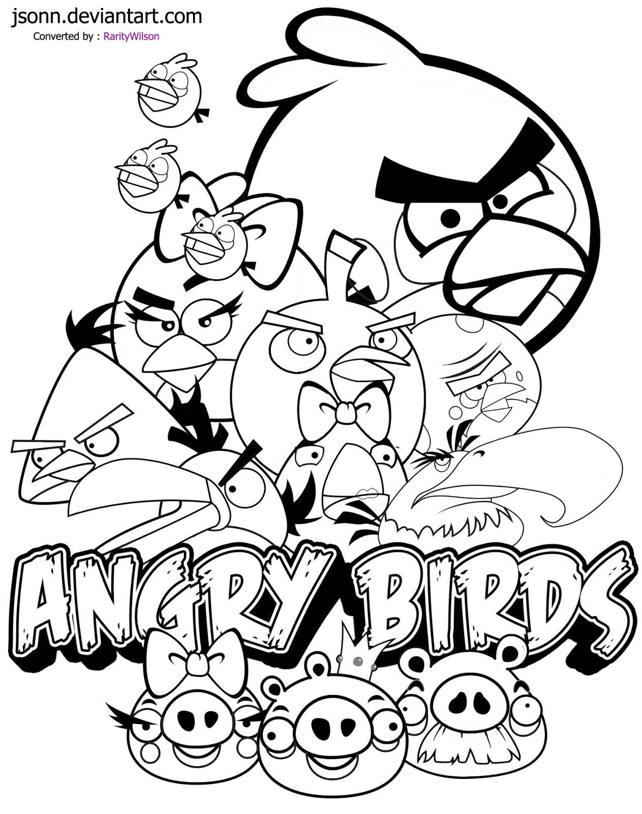 Coloring pages for angry birds