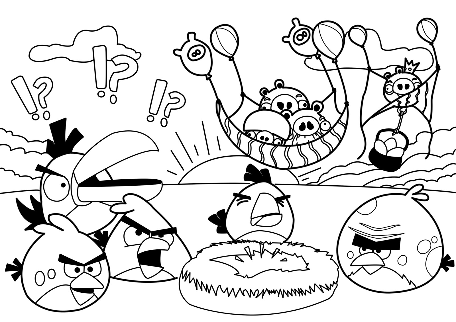 coloring pages for angry birds red angry bird coloring page at getcoloringscom free for birds angry coloring pages