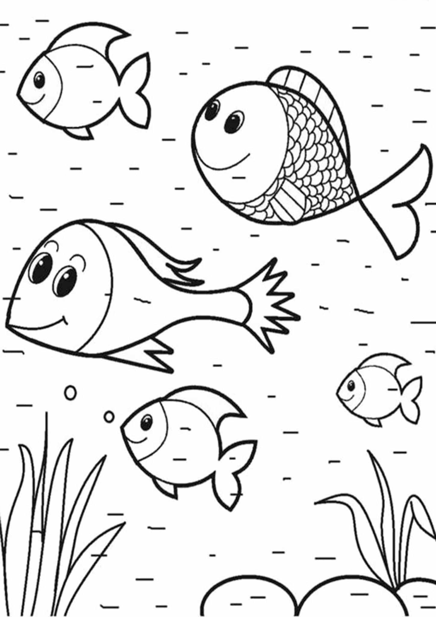coloring pages for fish four fish coloring printables to print or download coloring for pages fish