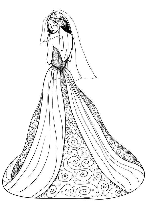 coloring pages for girls dresses ball gown coloring page for girls printable free girls pages for dresses coloring