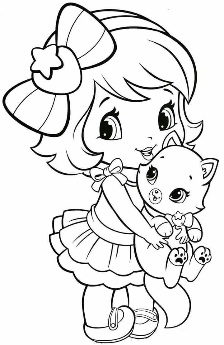coloring pages for kids girls anime cat girl coloring pages coloring home kids coloring for pages girls