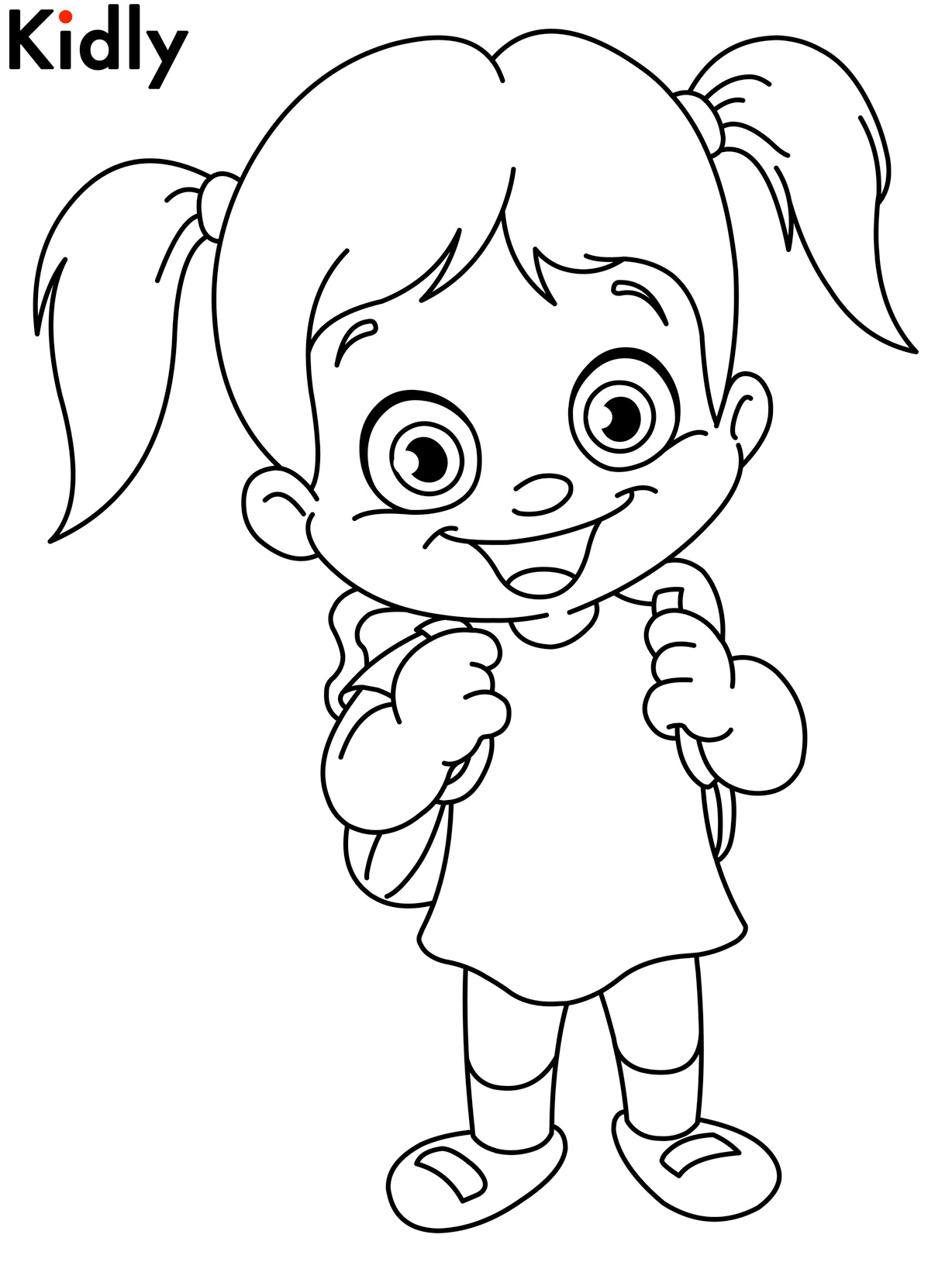 coloring pages for kids girls coloring page the girl draws pages for coloring kids girls