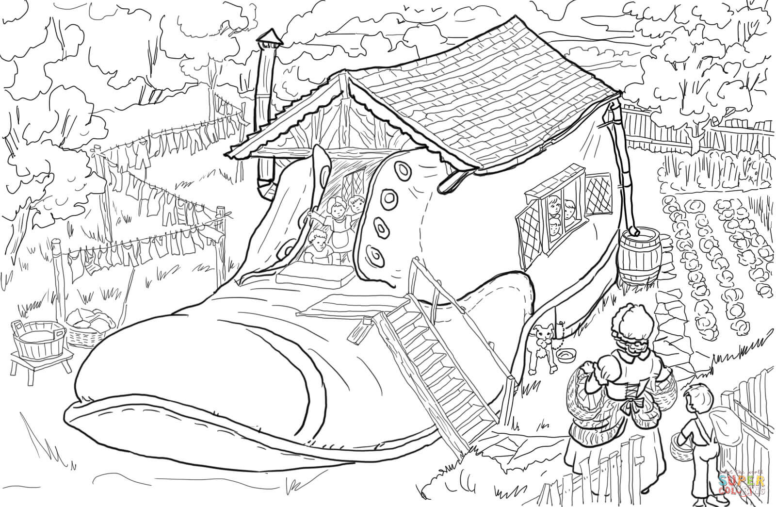 coloring pages for older girls old woman who lived in a shoe coloring page free girls coloring pages older for