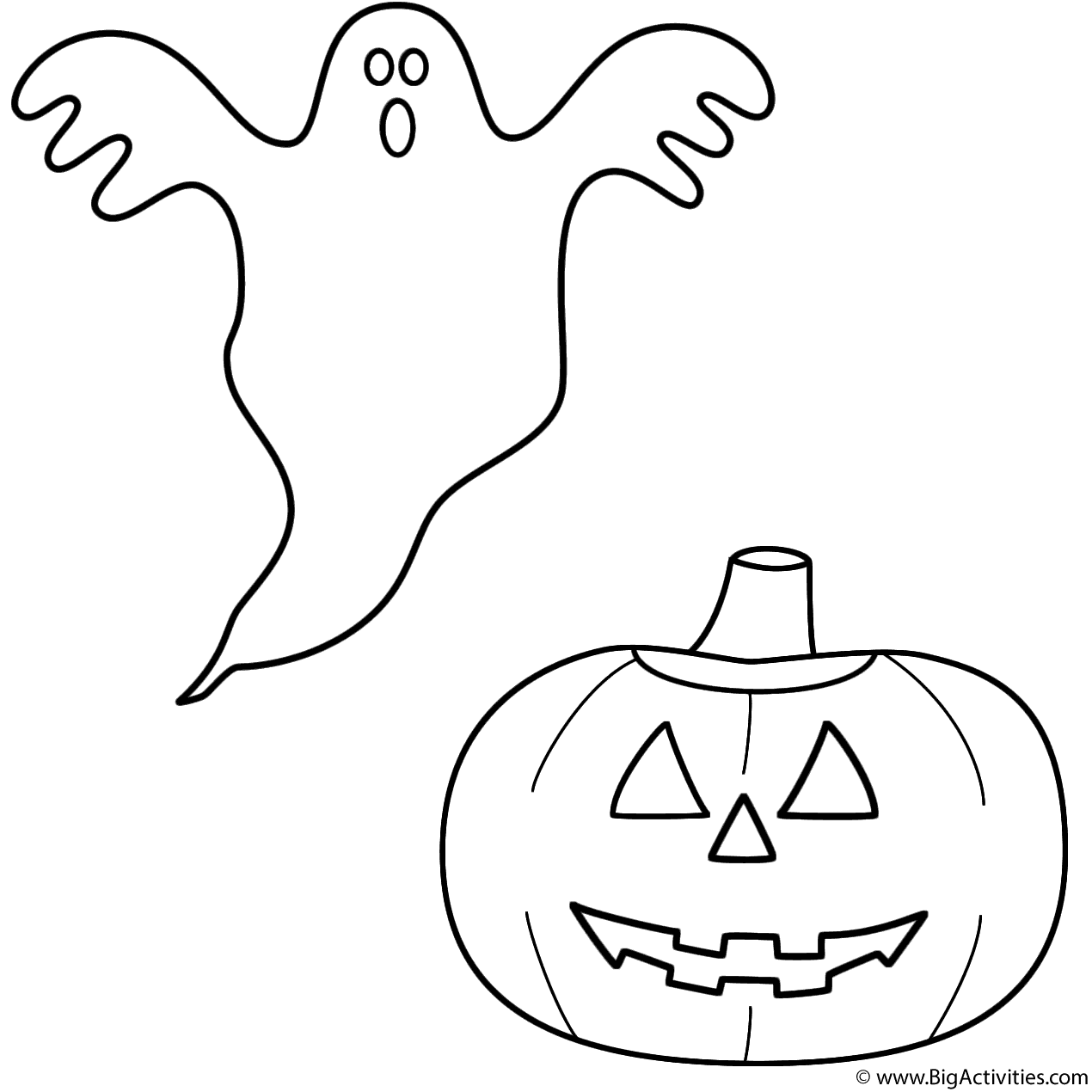 coloring pages ghost ghost with pumpkinjack o lantern coloring page halloween pages ghost coloring