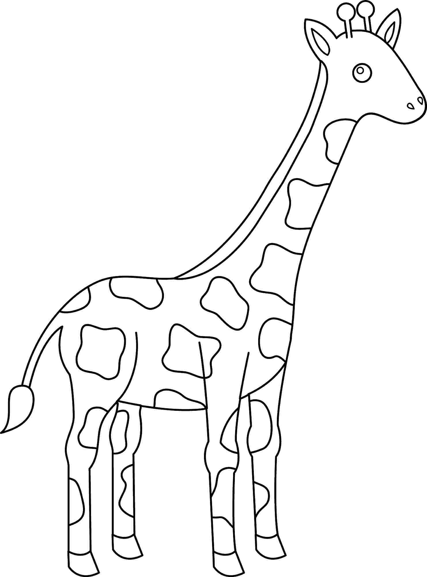 coloring pages giraffe animal coloring pages giraffe at getdrawings free download coloring giraffe pages