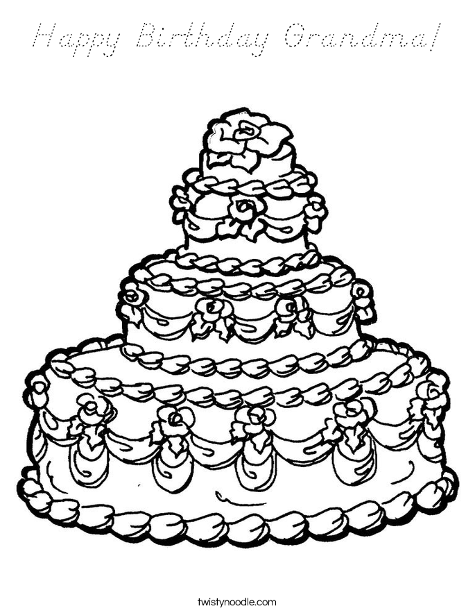 coloring pages happy birthday grandma easy to color happy birthday grandma coloring pages di 2020 pages happy grandma coloring birthday