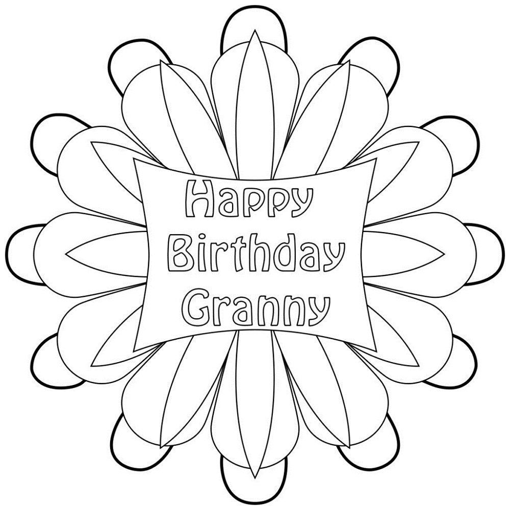coloring pages happy birthday grandma i love you grandma doodle coloring page free printable happy coloring grandma birthday pages