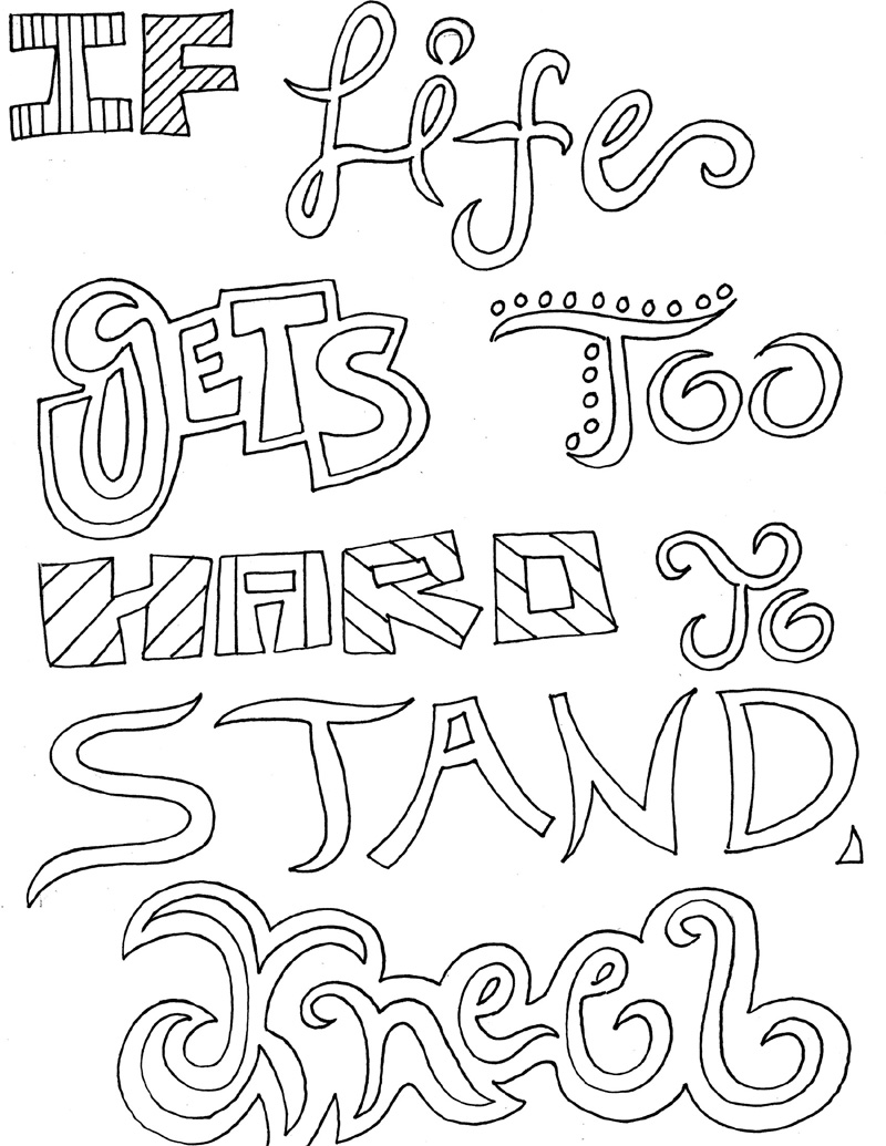 coloring pages inspirational 12 inspiring quote coloring pages for adultsfree printables coloring inspirational pages