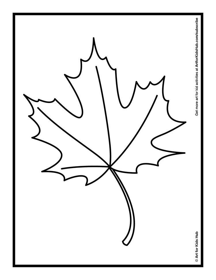 Coloring pages leaves fall
