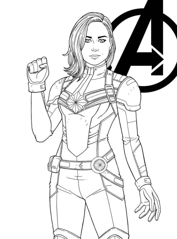 coloring pages marvel captain marvel coloring pages at getdrawings free download pages marvel coloring