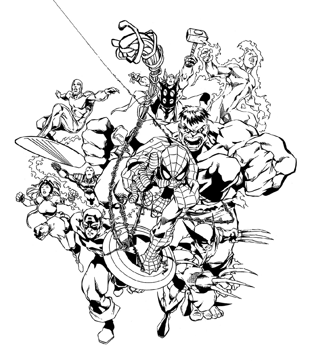 coloring pages marvel coloring pages superhero coloring pages free and printable coloring marvel pages