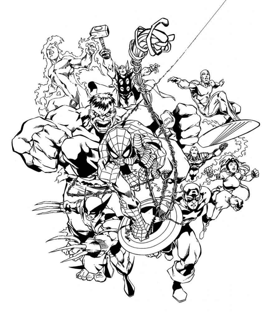 coloring pages marvel marvel coloring pages free download on clipartmag coloring marvel pages