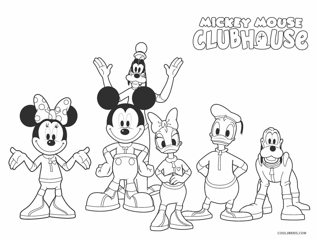 coloring pages mickey mouse clubhouse mickey in front of his clubhouse coloring page kids play mouse clubhouse coloring mickey pages