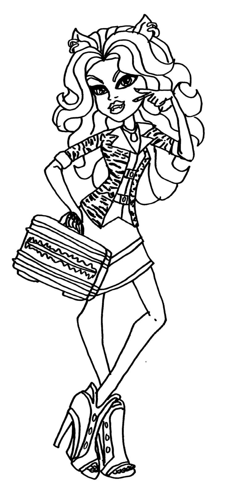 coloring pages monster high värityskuva 17 best images about monster high coloring pages on coloring high monster pages värityskuva