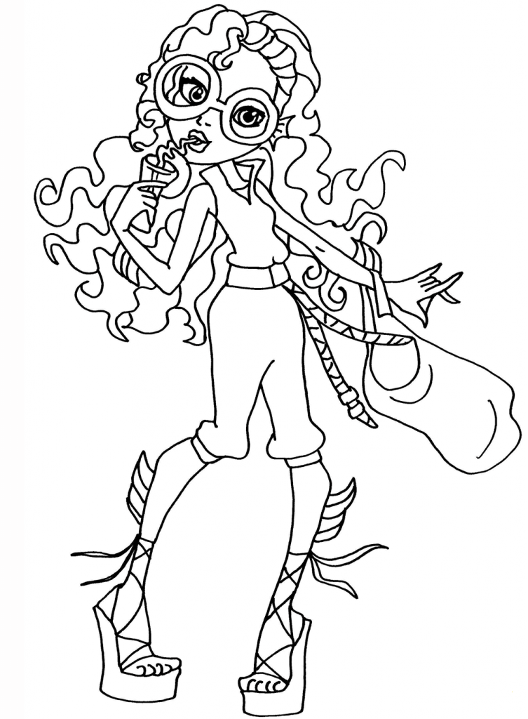 coloring pages monster high värityskuva cartoon monster coloring pages at getcoloringscom free värityskuva pages high coloring monster