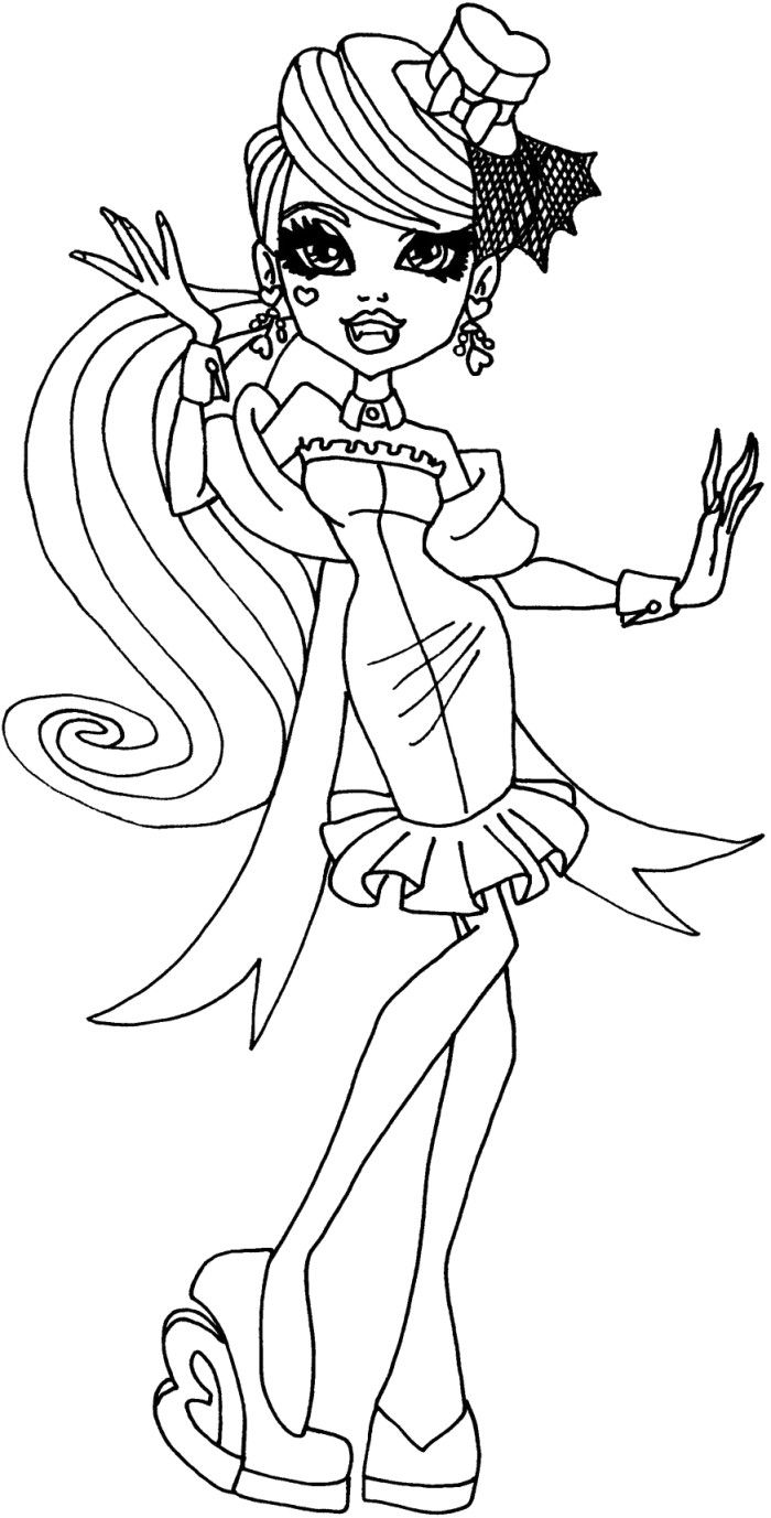 coloring pages monster high värityskuva draculaura is learning dancing coloring pages monster pages coloring high värityskuva monster