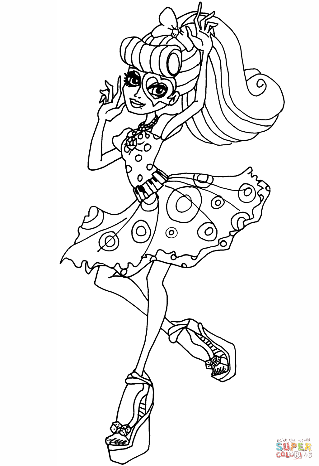 coloring pages monster high värityskuva free monster high coloring pages to print for kids värityskuva high monster coloring pages