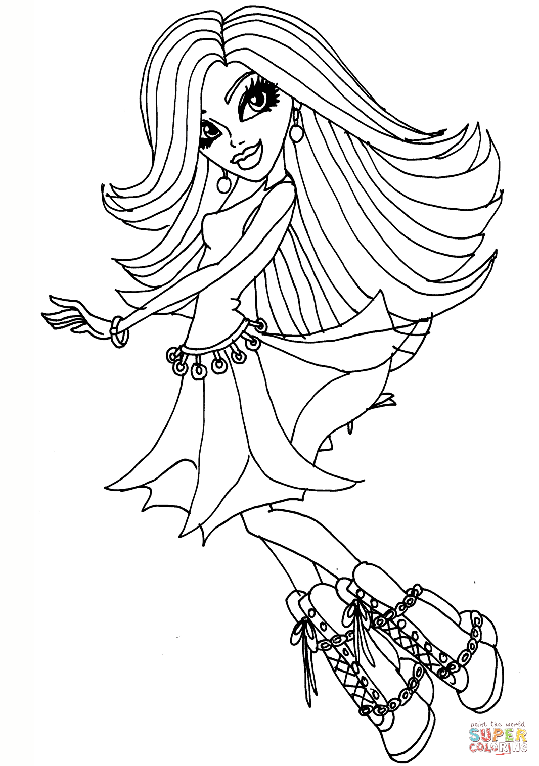 coloring pages monster high värityskuva monster high coloring pages getcoloringpagescom pages coloring high värityskuva monster