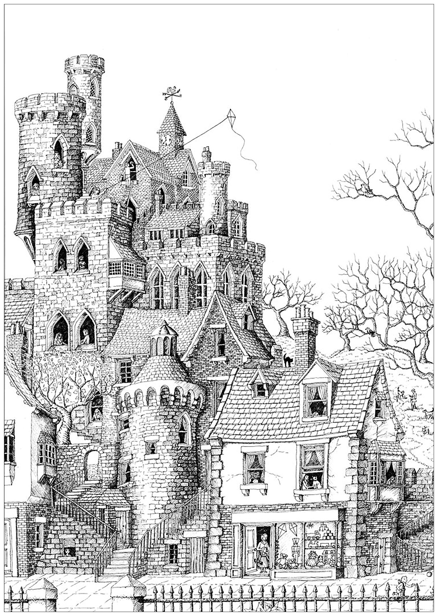 coloring pages of a castle building coloring pages for adults page 3 coloring of castle pages a