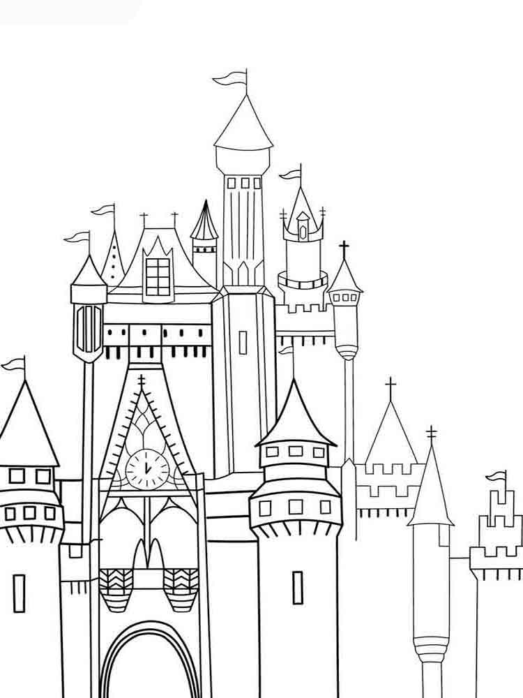 coloring pages of a castle castle coloring pages download and print castle coloring pages a castle coloring of