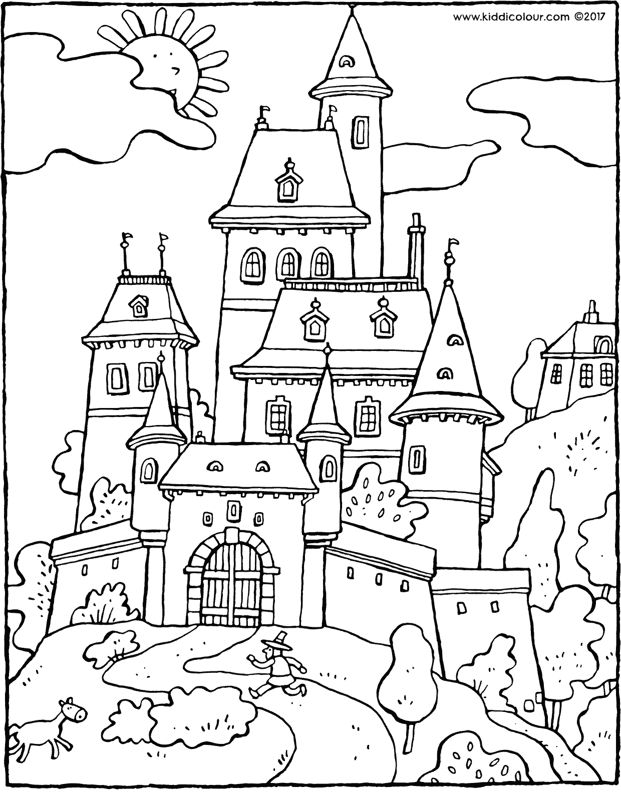 coloring pages of a castle dragon and castle coloring pages at getcoloringscom a of castle coloring pages