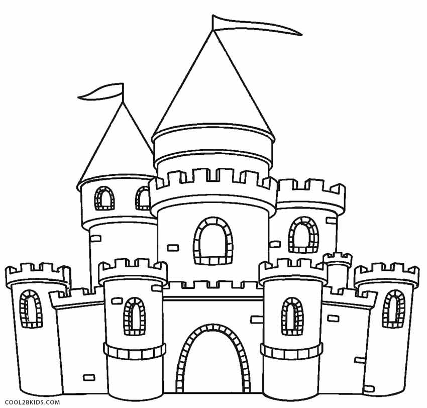 coloring pages of a castle printable castle coloring pages for kids castle coloring pages a of