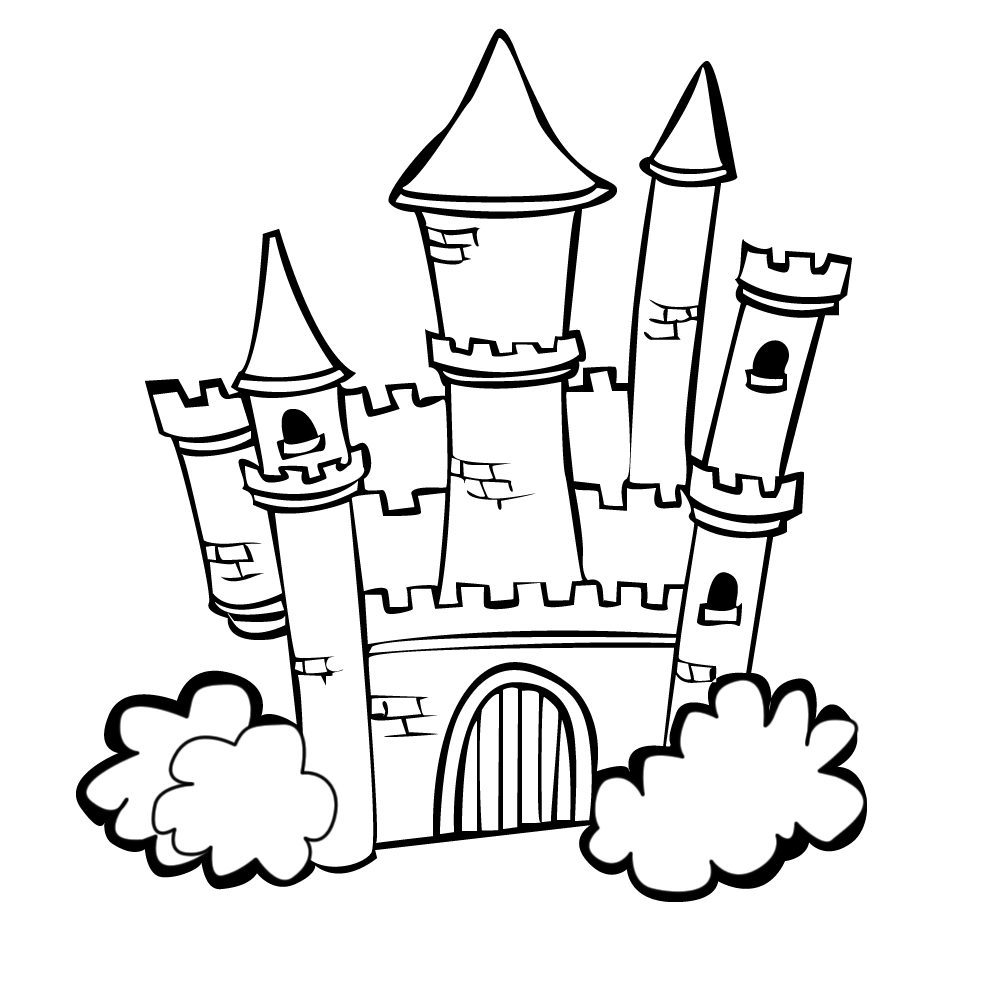 coloring pages of a castle printable castle coloring pages for kids coloring of castle pages a