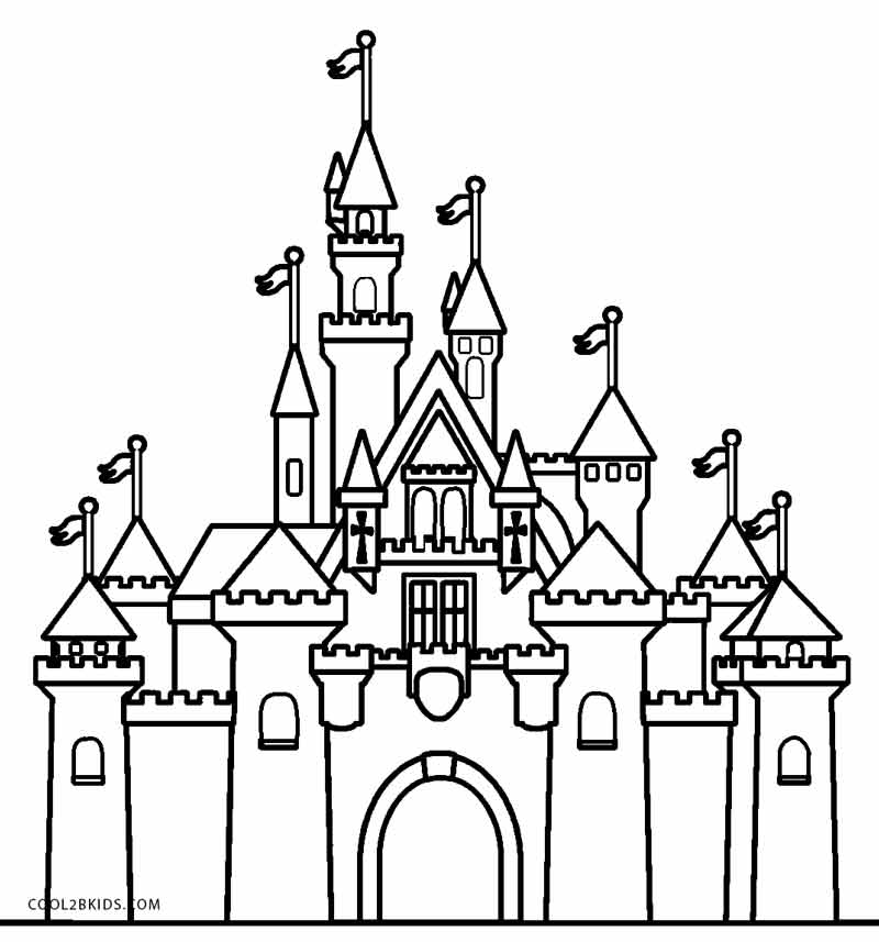 coloring pages of a castle printable castle coloring pages for kids cool2bkids pages a castle of coloring