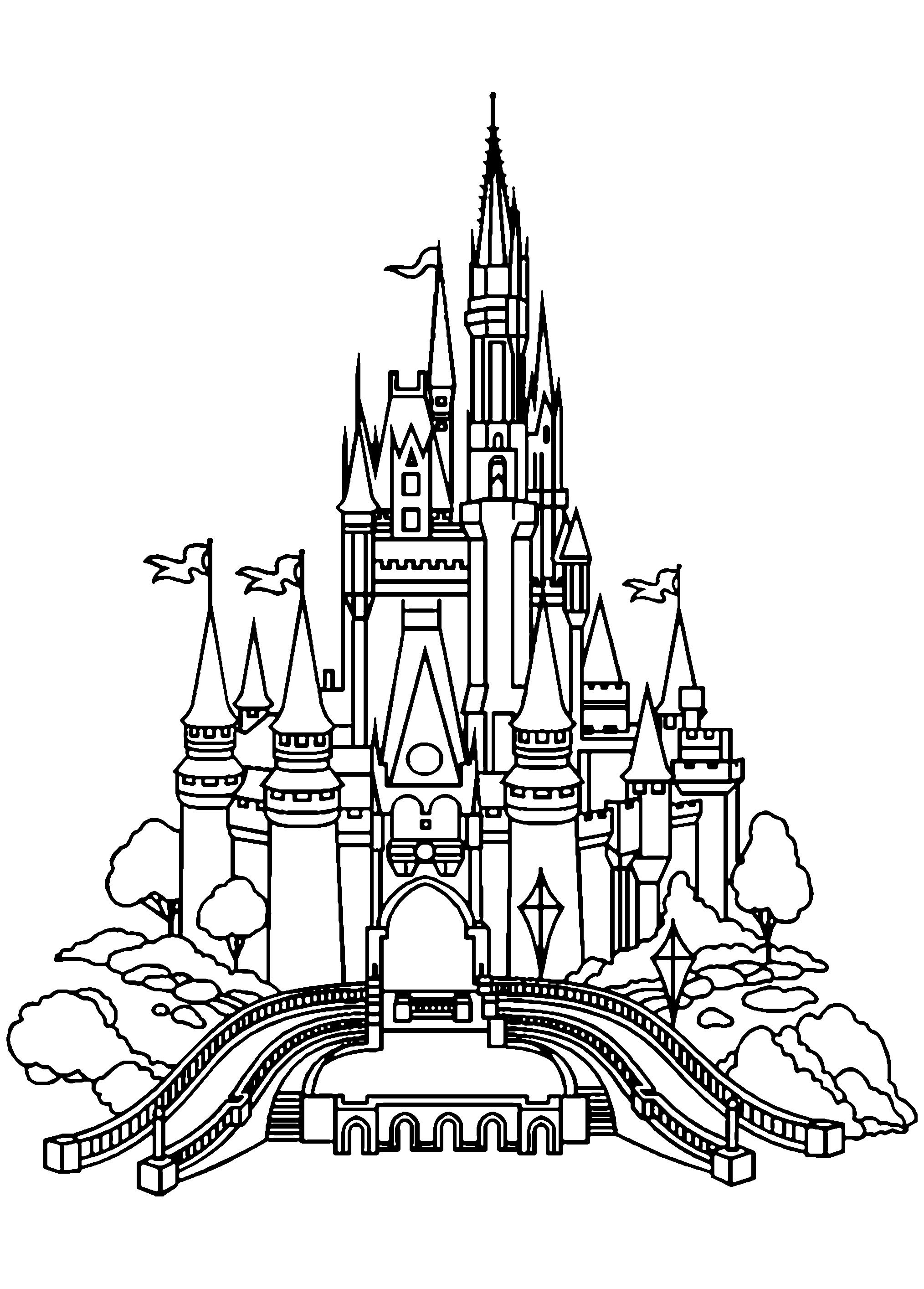 Coloring pages of a castle