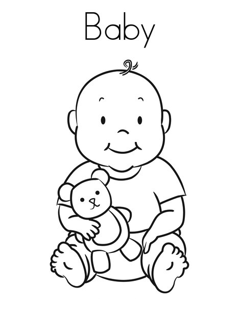 coloring pages of babies free printable baby coloring pages for kids coloring of babies pages